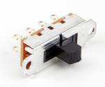 Switchcraft 56300, C56300 Series Mini Slide Switch, 3 Position, 2 Pole